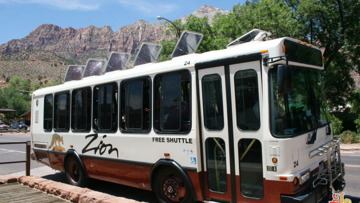 Zion Shuttle Schedule for Zion National Park and Springdale