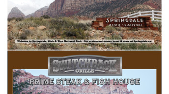Zion and Springdale Recreational Guide and Map
