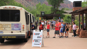 Zion National Park high visitation levels causing crowding