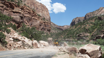 Zion National Park rockfall causes road closures through the weekend