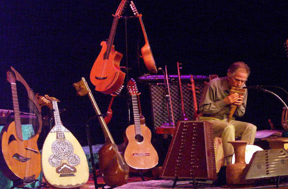 Multi-instrumentalist Todd Green performs for Z-Arts musical tour of the world