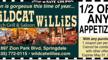 Wildcat Willies Springdale Restaurant Coupon | 1/2 off apps in May